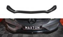 Maxton Design Spoiler předního nárazníku Mercedes C W205 Coupe AMG-Line - texturovaný plast