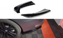 Maxton Design Boční lišty zadního nárazníku Mercedes C W205 Coupe AMG-Line - texturovaný plast