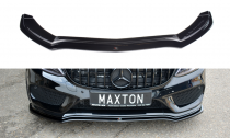 Maxton Design Spoiler předního nárazníku Mercedes C43 AMG W205 - texturovaný plast