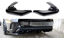 Maxton Design Boční lišty zadního nárazníku Mercedes C43 AMG W205 - texturovaný plast