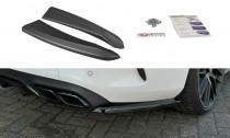 Maxton Design Boční lišty zadního nárazníku Mercedes C63 AMG W205 Coupe - texturovaný plast