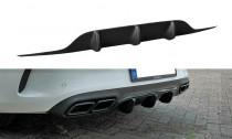 Maxton Design Spoiler zadního nárazníku Mercedes C63 AMG W205 Coupe - texturovaný plast