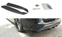 Maxton Design Boční lišty zadního nárazníku Mercedes C63 AMG W205 Combi - texturovaný plast