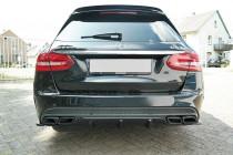 Maxton Design Spoiler zadního nárazníku Mercedes C63 AMG W205 Combi - texturovaný plast