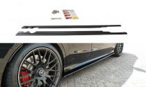 Maxton Design Prahové lišty Mercedes C63 AMG W205 Combi - texturovaný plast