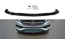 Maxton Design Spoiler předního nárazníku Mercedes CLA (C117) AMG-Line Facelift - texturovaný plast