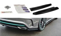 Maxton Design Boční lišty zadního nárazníku Mercedes CLA (C117) AMG-Line Facelift - texturovaný plast