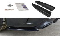 Maxton Design Boční lišty zadního nárazníku Mercedes CLA A45 AMG (C117) Facelift - texturovaný plast