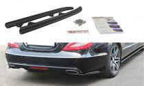 Maxton Design Boční lišty zadního nárazníku Mercedes CLS W218 - texturovaný plast