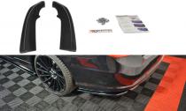 Maxton Design Boční lišty zadního nárazníku Mercedes E W212 Coupe AMG-Line - texturovaný plast