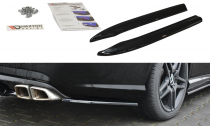 Maxton Design Boční lišty zadního nárazníku Mercedes E63 AMG W212 - texturovaný plast