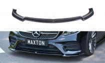 Maxton Design Spoiler předního nárazníku Mercedes E AMG-Line W213 Coupe V.2 - texturovaný plast