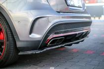 Maxton Design Spoiler zadního nárazníku s příčkami Mercedes GLA 45 AMG (X156) - texturovaný plast