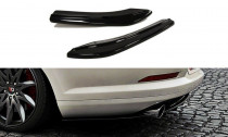 Maxton Design Boční lišty zadního nárazníku VW Passat CC R36/R-Line - texturovaný plast