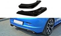 Maxton Design Boční lišty zadního nárazníku Opel Astra J OPC - texturovaný plast