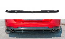 Maxton Design Spoiler zadního nárazníku s příčkami Peugeot 508 SW Mk2 - texturovaný plast