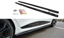 Maxton Design Prahové lišty Renault Clio RS Mk4 - texturovaný plast