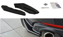 Maxton Design Boční lišty zadního nárazníku Renault Laguna Mk3 Coupe - texturovaný plast