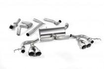 Catback výfuk Honda Civic Type R FK2 Milltek Sport - bez rezonátoru / leštěné koncovky