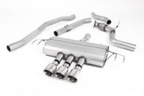 Catback výfuk Honda Civic Type R FK8 Milltek Sport - bez rezonátoru / leštěné koncovky