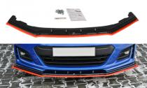 Maxton Design Spoiler předního nárazníku Subaru BRZ Facelift V.4 - texturovaný plast + červená