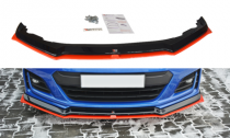 Maxton Design Spoiler předního nárazníku Subaru BRZ Facelift V.5 - texturovaný plast + červená