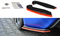 Maxton Design Boční lišty zadního nárazníku Subaru BRZ Facelift V.2 - texturovaný plast + červená