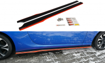 Maxton Design Prahové lišty Subaru BRZ/Toyota GT86 Facelift V.2 - texturovaný plast + červená