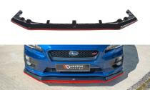 Maxton Design Spoiler předního nárazníku Subaru WRX STI V.3 - texturovaný plast + červená