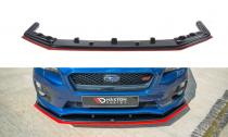 Maxton Design Spoiler předního nárazníku Subaru WRX STI V.4 - texturovaný plast + červená