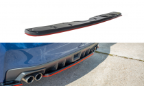 Maxton Design Spoiler zadního nárazníku Subaru WRX STI V.2 - texturovaný plast + červená