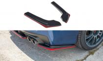 Maxton Design Boční lišty zadního nárazníku Subaru WRX STI V.2 - texturovaný plast + červená