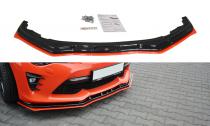 Maxton Design Spoiler předního nárazníku Toyota GT86 Facelift V.4 - texturovaný plast + červená