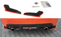 Maxton Design Boční lišty zadního nárazníku Toyota GT86 Facelift V.2 - texturovaný plast + červená