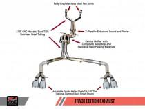 AWE Tuning Exhaust suit Výfukový systém pro AUDI S7 C7 4,0T 4.0 TFSI - Track Edition / Stříbrné koncovky
