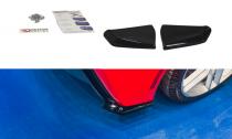 Maxton Design Boční lišty zadního nárazníku Chevrolet Corvette C7 - černý lesklý lak