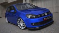 Maxton Design Spoiler předního nárazníku VW Golf VI/VW Jetta - texturovaný plast
