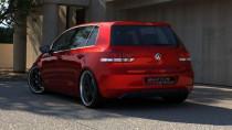 Maxton Design Spoiler zadního nárazníku VW Golf VI  - texturovaný plast