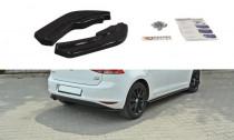 Maxton Design Boční lišty zadního nárazníku VW Golf VII - texturovaný plast