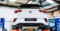 Klapkový catback výfuk VW T-Roc R 2.0 TSI OPF/GPF Milltek Sport - s rezonátorem / titanově modré koncovky