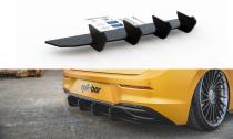 Maxton Design Zadní difuzor VW Golf VIII V.2 - černá + červená horizontálně i vertikálně