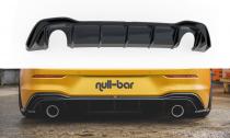 Maxton Design Spoiler zadního nárazníku s koncovkami výfuku (vzhled GTI) VW Golf VIII - černý lesklý lak