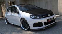 Maxton Design Spoiler předního nárazníku VW Golf VI R V.1 - karbon