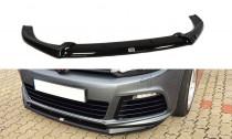 Maxton Design Spoiler předního nárazníku VW Golf VI R V.2 - černý lesklý lak