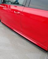 Maxton Design Prahové lišty VW Golf VI R - černý lesklý lak