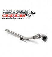 1. díl výfuku AUDI TT 8J 2.0 TFSI 2WD Downpipe Milltek Sport - Bez katalyzátoru