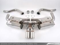 AWE Tuning Sportovní výfukový systém pro Porsche Cayman/Cayman S & Boxster/Boxster S - černé koncovky