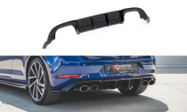 Maxton Design Spoiler zadního nárazníku VW Golf R Mk7 Facelift V.3 - texturovaný plast