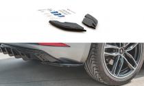 Maxton Design Boční lišty zadního nárazníku Seat Leon Mk3 FR Facelift - texturovaný plast