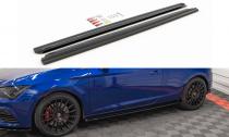 Maxton Design Prahové lišty Seat Leon (5F) Cupra - texturovaný plast